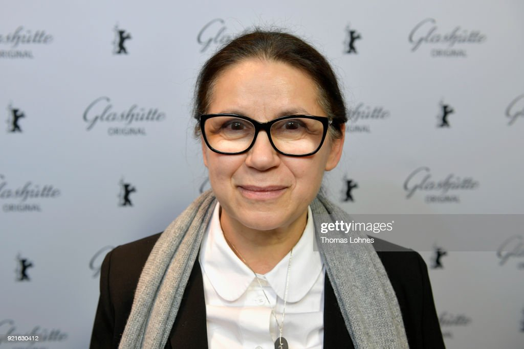 Ildiko Enyedi attends the Glashuette Original Lounge at The 68th Berlinale International Film Festival at Grand Hyatt Hotel on February 20, 2018 in Berlin, Germany.
