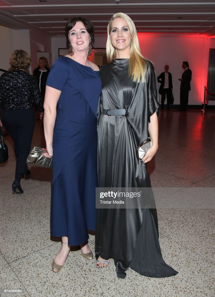 Ildiko von Kuerthy and german news anchor Judith Rakers during the Henri Nannen Award After Show Party on April 27, 2017 in Hamburg, Germany.