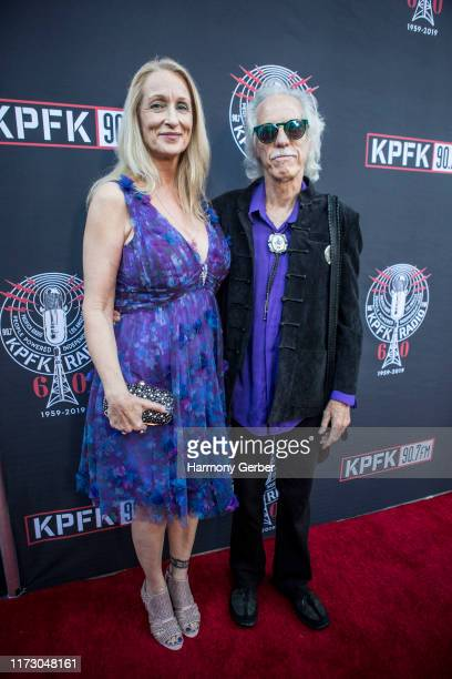 Ildiko Von Somogyi and John Densmore attend the KPFK 907FM 60th Anniversary Benefit Gala at Skirball Cultural Center on September 07 2019 in Los...
