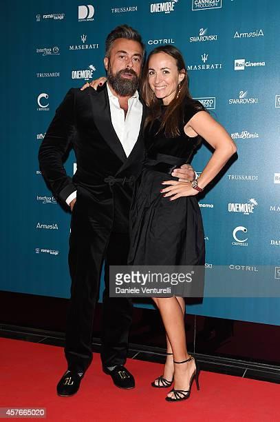 Ildo Damiano and Camila Raznovich attend Un'Altra Storia Charity Event Benefiting Doppia Difesa Arrivals during the 9th Rome Film Festival at Capitol...