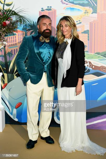 Ildo Damiano and Michela Proietti attends the Rose Ball 2019 to benefit the Princess Grace Foundation on March 30 2019 in Monaco Monaco