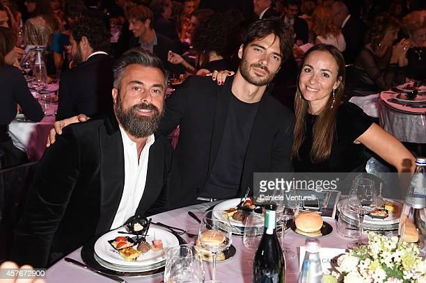 Ildo Damiano Giulio Berruti and Camila Raznovich attend Un'Altra Storia Charity Event Benefiting Doppia Difesa during the 9th Rome Film Festival at...