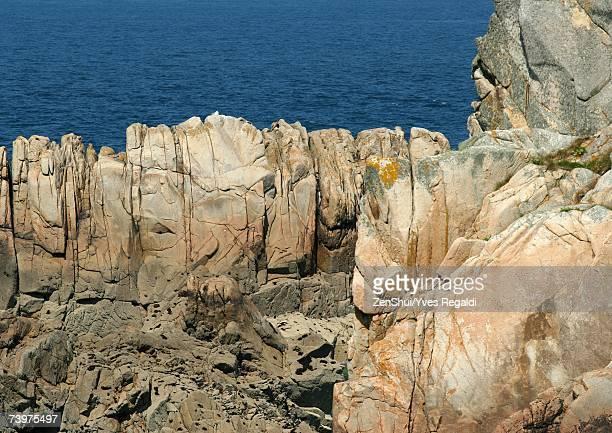 Ile de Brehat, Brittany, France, coastal rock formations