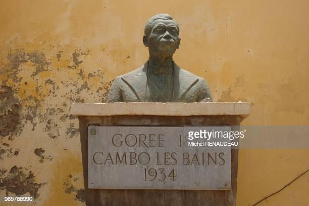 Ile de Gorée buste de Blaise Diagne célebre homme politique Sénégalais Ile de Gorée buste de Blaise Diagne célebre homme politique Sénégalais