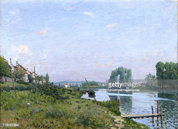Ile St Denis' 1872 Alfred Sisley French painter Oil on canvas