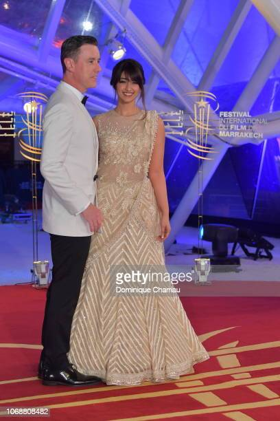 Ileana D'Cruz and guest attends the tribute to Jillali Ferhati during the 17th Marrakech International Film Festival on December 5 2018 in Marrakech...