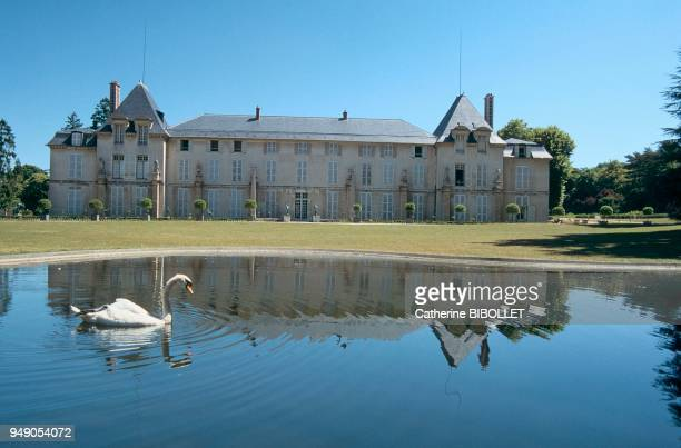 HautsdeSeine RueilMalmaison Malmaison Castle and the body of water in the English garden IledeFrance HautsdeSeine RueilMalmaison Le château de La...