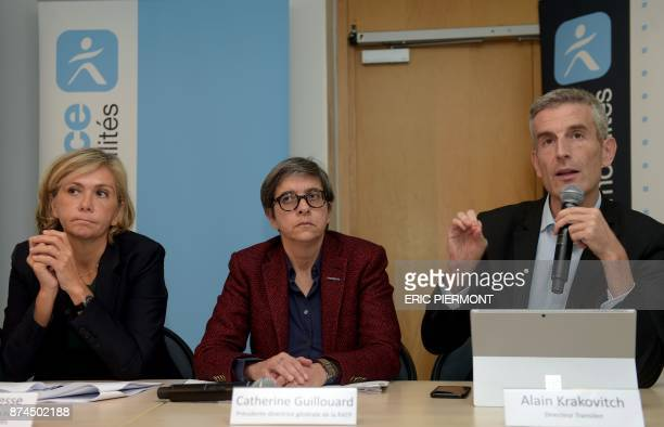 IledeFrance region president Valerie Pecresse Chief Executive Officer of French stateowned public transport operator RATP Catherine Guillouard and...
