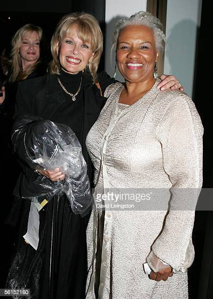 Ilene Graff and Barbara Morrison pose at the party following the Actor's Fund STAGE Too Tribute Hooray For Love celebrating the music of Harold Arlen...
