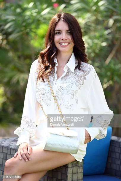 Ilenia Pastorelli attend the Press Conference during the Filming Italy Sardegna Festival 2020 on July 23 2020 in Cagliari Italy