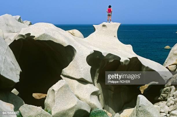 Iles Lavezzi Corse 2A MR strange rock in Lavezzi south of Corsica island France MR