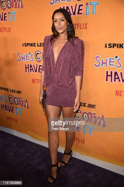 Ilfenesh Hadera attends the She's Gotta Have It Season 2 Premiere at Alamo Drafthouse on May 23 2019 in Brooklyn New York