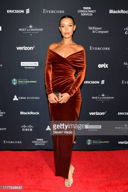 """Ilfenesh Hadera attends the Whitaker Peace & Development Initiative """"Place for Peace"""" at Gotham Hall on September 27, 2019 in New York City."""