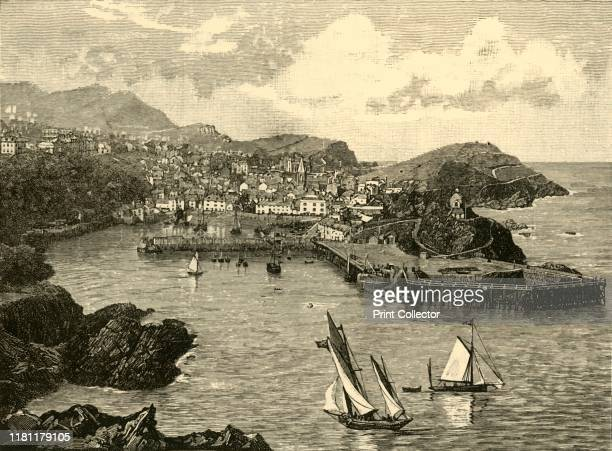 Ilfracombe' 1898 Seaside resort on the North Devon coast England with a small harbour provided King John with ships and men to invade Ireland in 1208...