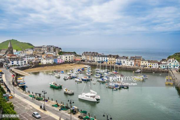 ilfracombe harbour north devon - ilfracombe stock photos and pictures