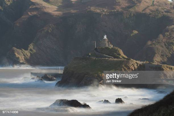 ilfracombe lighthouse - ilfracombe stock photos and pictures