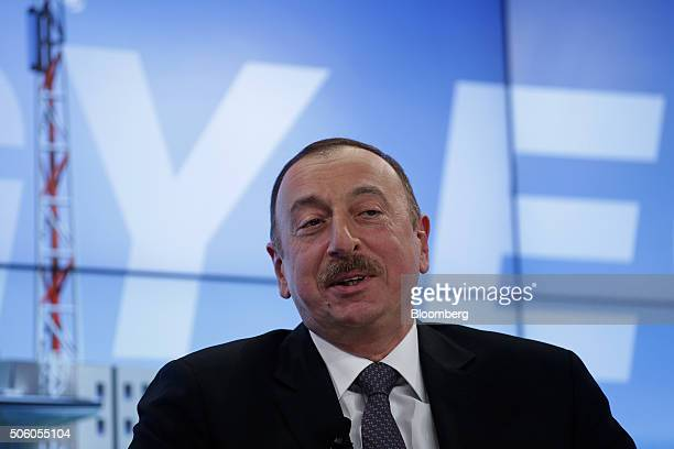 Ilham Aliyev Azerbaijan's president speaks during a panel session at the World Economic Forum in Davos Switzerland on Thursday Jan 21 2016 World...