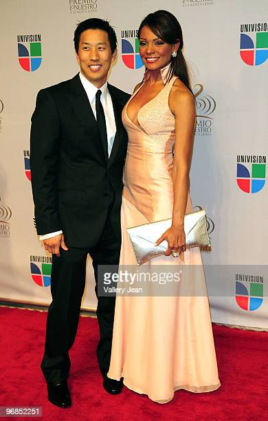 Ilia Calderon and guest arrive at Univisions 2010 Premio Lo Nuestro a La Musica Latina Awards at American Airlines Arena on February 18 2010 in Miami...