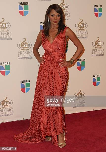 Ilia Calderon arrives at the Premio Lo Nuestro Latin Music Awards at the American Airlines Arena on February 21 2008 in Miami Florida