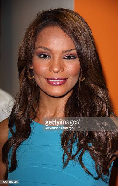 Ilia Calderon attends the Rocco Donna Coral Gables Salon grand opening on June 17 2009 in Coral Gables Florida