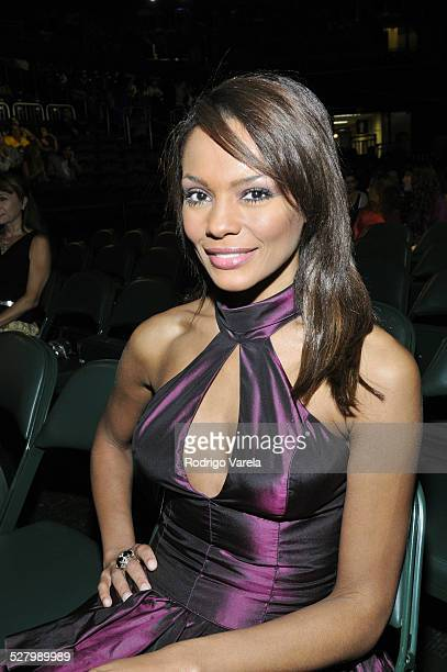 Ilia Calderon poses for a photo at the Univision and the Latin Recording Academy honor Jose Jose at the Bank United Center on July 24 2008 in Miami...