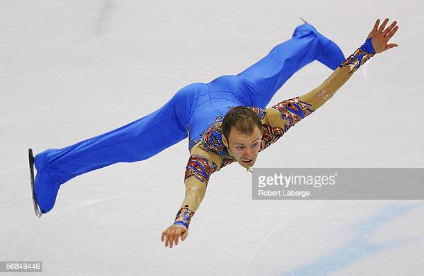 Ilia Klimkin of Russia competes in the Men's Short Program Figure Skating during Day 4 of the Turin 2006 Winter Olympic Games on February 14, 2006 at...