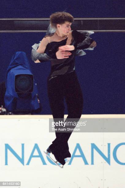 Ilia Kulik of Russia competes in the Men's Singles Short Program during day five of the Nagano Winter Olympic Games at White Ring on February 12 1998...
