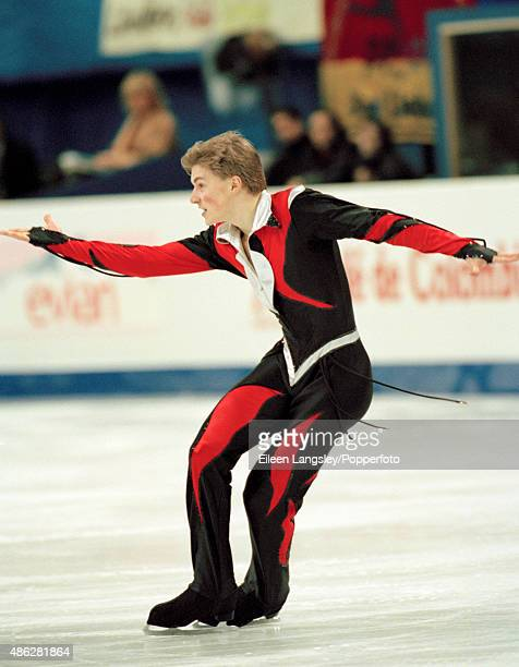 Ilia Kulik of Russia performing in the mens skating event during the World Figure Skating Championships in Lausanne Switzerland circa March 1997