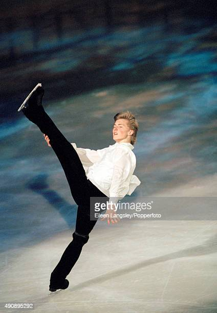Ilia Kulik of Russia performing in the mens skating event during the Winter Olympic Games in Nagano Japan circa February 1998