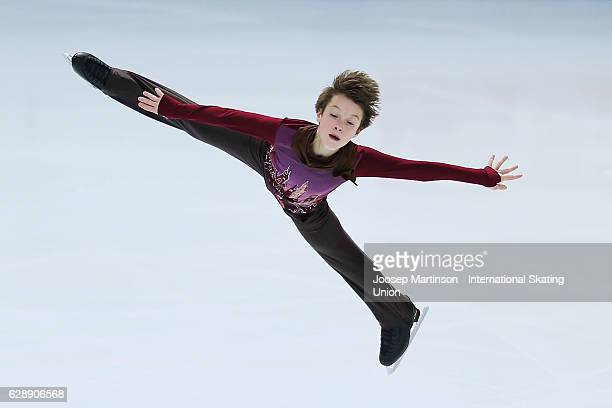 Ilia Skirda of Russia competes during Junior Men's Free Skating on day three of the ISU Junior and Senior Grand Prix of Figure Skating Final at...