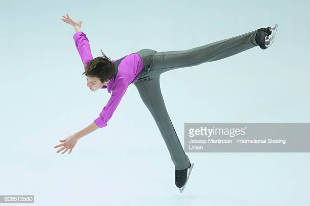 Ilia Skirda of Russia competes during Junior Men's Short Program on day one of the ISU Junior and Senior Grand Prix of Figure Skating Final at Palais...