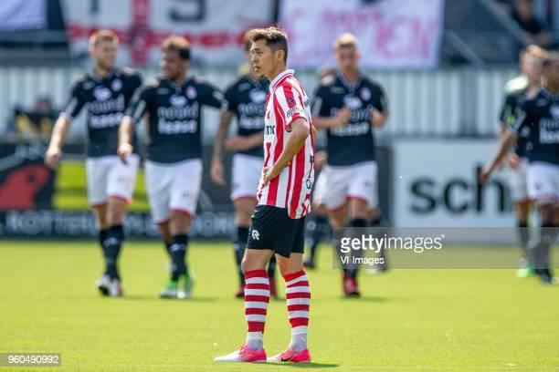 Ilias Alhaft of Sparta Rotterdam during the Dutch Jupiler League playoffs final match between Sparta Rotterdam and FC Emmen at the Sparta stadium Het...