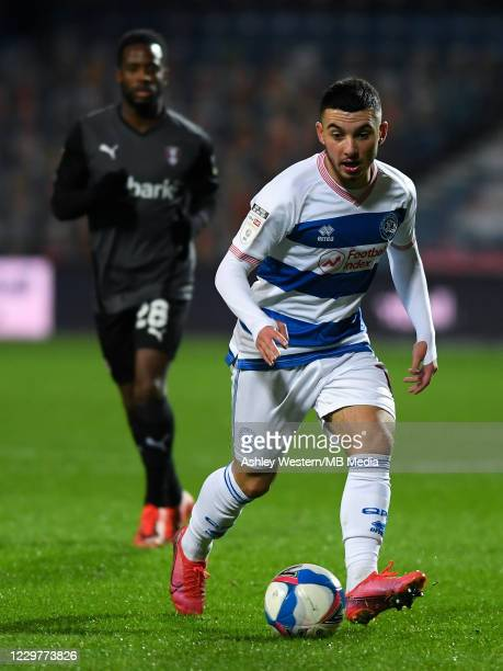 Ilias Chair of Queens Park Rangers in action during the Sky Bet Championship match between Queens Park Rangers and Rotherham United at The Kiyan...