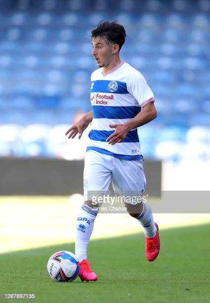 Ilias Chair of Queens Park Rangers runs with the ball during the PreSeason Friendly between Queens Park Rangers and AFC Wimbledon at The Kiyan Prince...
