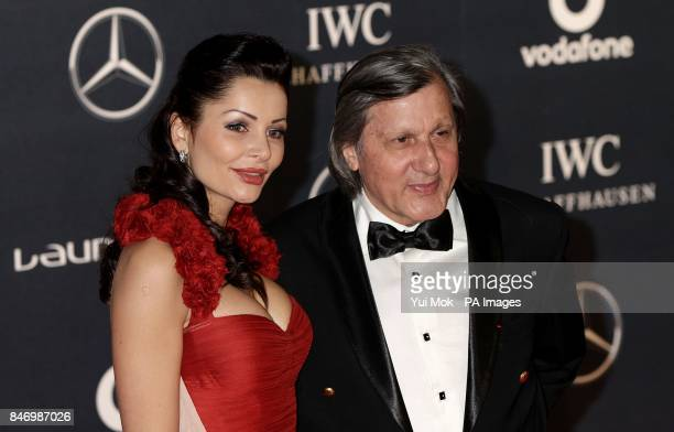 Ilie Nastase and guest arriving for 2012 Laureus World Sports Awards at Central Hall Westminster Storey's Gate London