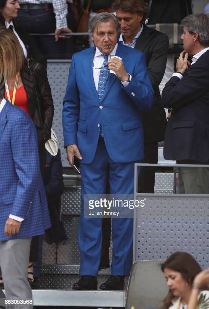 Ilie Nastase attends the match between Rafael Nadal of Spain and Dominic Thiem of Austria in the final during day nine of the Mutua Madrid Open...