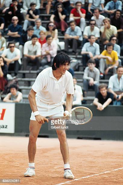 Ilie Nastase from Romania at the Roland Garros French Open