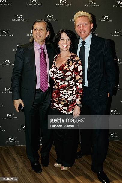Ilie Nastase Nadja Comaneci and Boris Becker attend the preview of 'The Crossing' gala event hosted by IWC Schaffhausen during the Salon...
