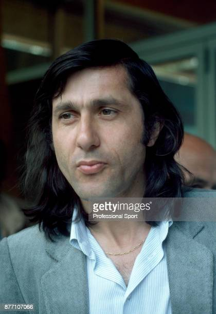 Ilie Nastase of Romania during the French Open Tennis Championships at the Stade Roland Garros circa May 1980 in Paris France