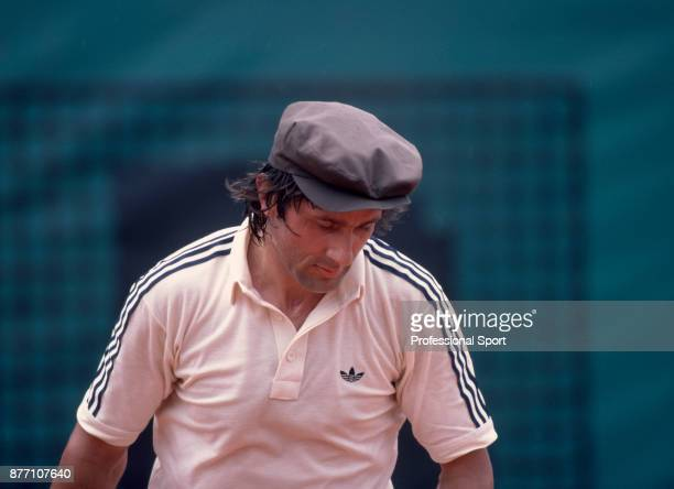 Ilie Nastase of Romania during the French Open Tennis Championships at the Stade Roland Garros circa June 1981 in Paris France