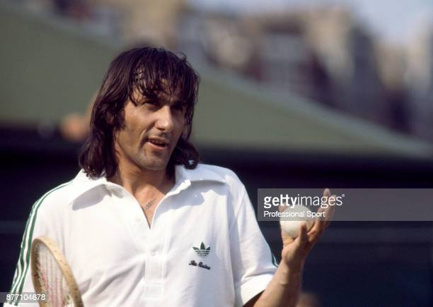 Ilie Nastase of Romania during the Stella Artois Championships at the Queen's Club in London England circa June 1978