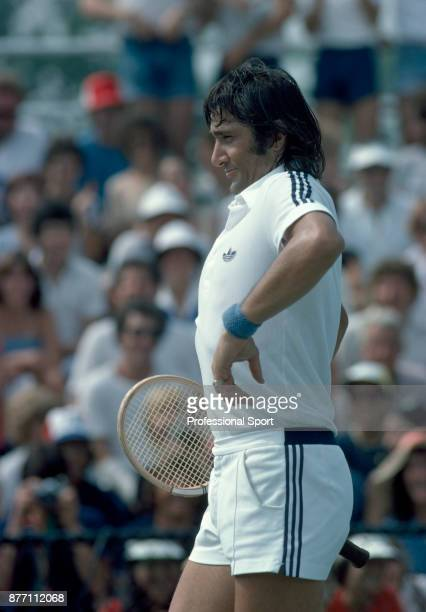 Ilie Nastase of Romania during the US Open at the USTA National Tennis Center circa September 1982 in Flushing Meadow New York USA