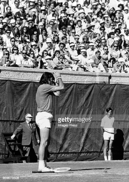 Ilie Nastase plays at the US Open Tennis Tournament in Forest Hills circa September 1972