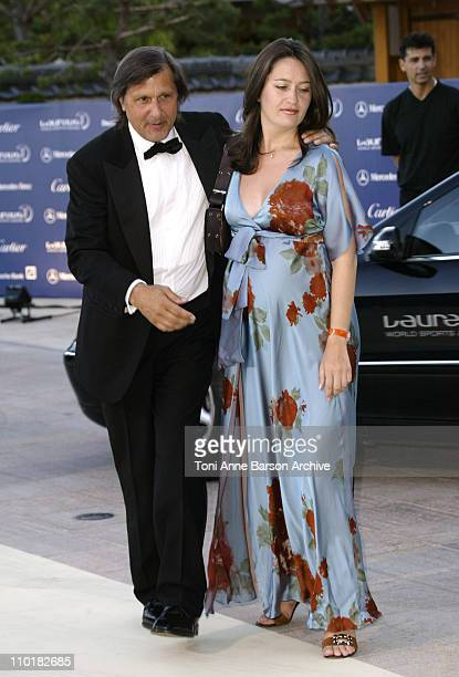 Ilie Nastase Wife during 2003 Laureus World Sports Awards Arrivals at Grimaldi Forum in Monte Carlo Monaco