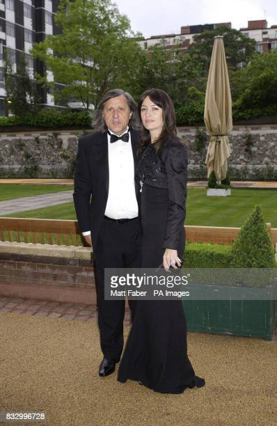 Ilie Nastase with his wife Amalia arrives at the Sport Against Addiction charity dinner held at Lords Cricket ground London