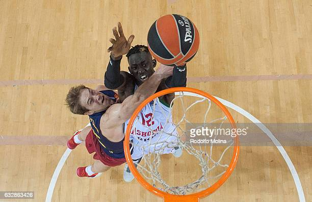 Ilimane Diop #12 of Baskonia Vitoria Gasteiz in action during the 2016/2017 Turkish Airlines EuroLeague Regular Season Round 20 game between FC...