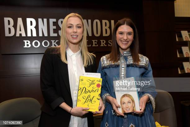 Iliza Shlesinger and Rebecca Serle attend a book signing and discussion for their books Girl Logic The Genius and the Absurdity and The Dinner List...
