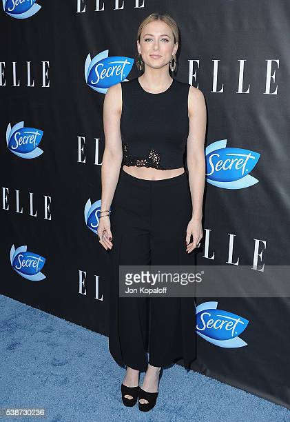 Iliza Shlesinger arrives at ELLE Hosts Women In Comedy Event With July Cover Stars Leslie Jones Melissa McCarthy Kate McKinnon And Kristen Wiig at...