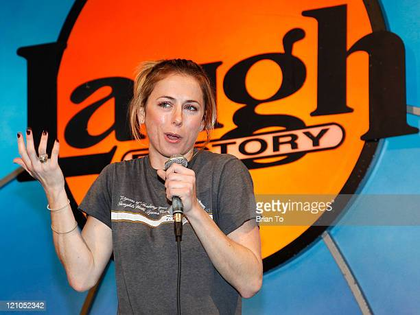 Iliza Shlesinger attends The Laugh Factory's 30th Annual Toy Giveaway And Free Christmas Dinner at The Laugh Factory on December 25 2009 in West...