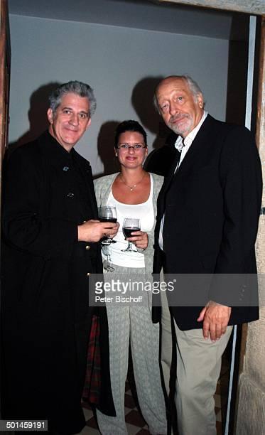 Ilja Richter Freundin Barbara Ferun Karl Dall Feier zum 60 Geburtstag von G u n t h e r E m m e r l i c h Innenhof Hoftheater Dresden Weißig Sachsen...